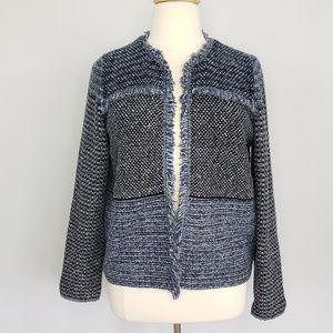 Chico's blue & black knit cardigan sweater Sz 16